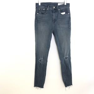 NWT Rag & Bone High Rise Ankle Skinny Size 26